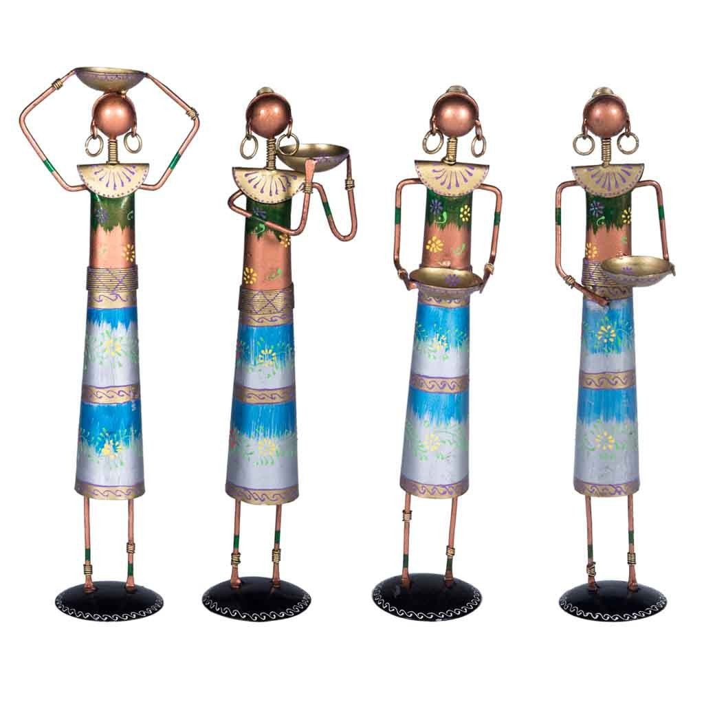 Maadze Decor Lady Blue Set of 4 - Maadze