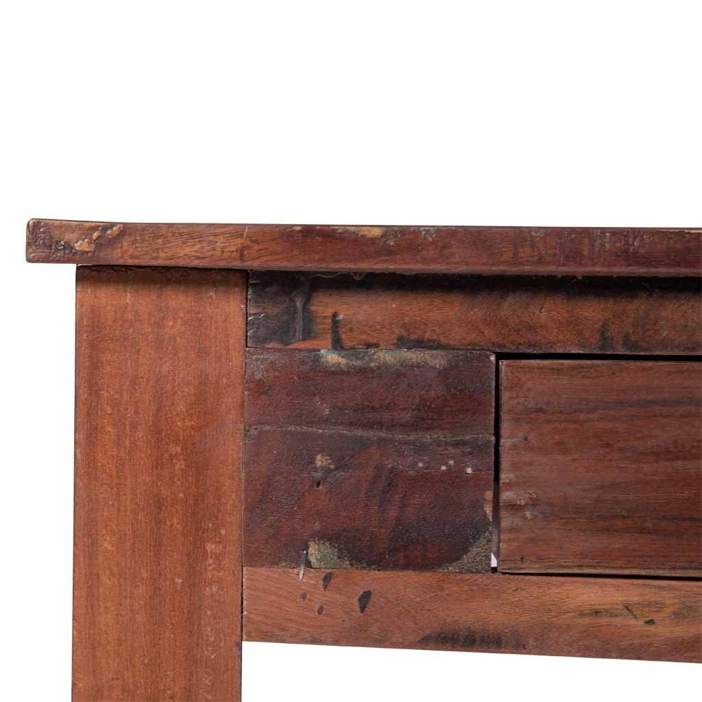 Reclaimed wood console table with drawers maadze reclaimed wood console table with drawers geotapseo Image collections