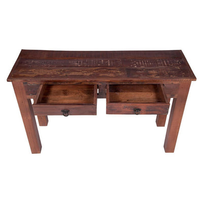 Maadze Reclaimed Wood Console Table with drawers. Reclaimed Wood Console Table with drawers