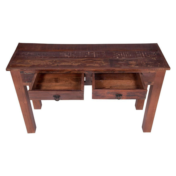 Maadze reclaimed wood console table with drawers
