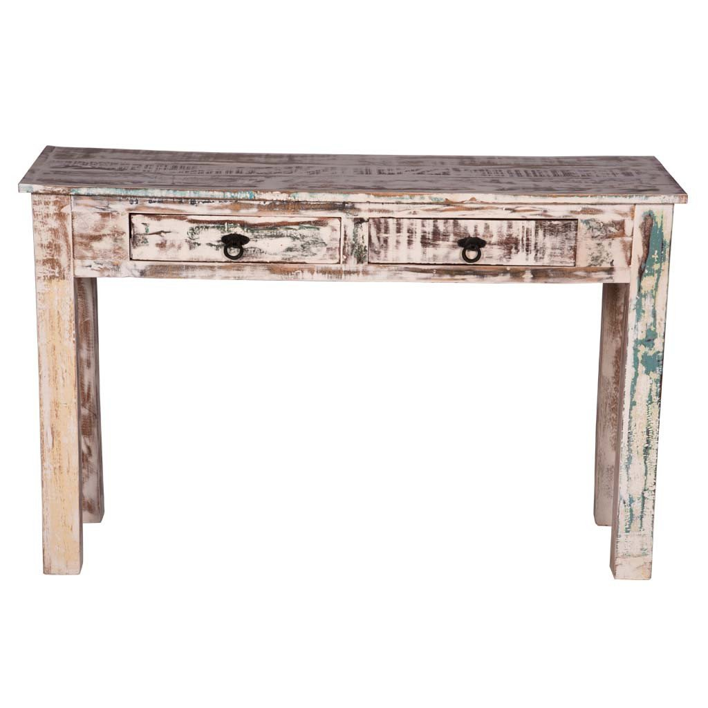 Maadze White Console Table with Drawers