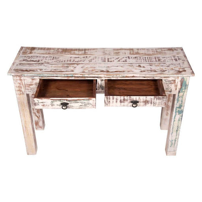 Good Maadze White Console Table With Drawers