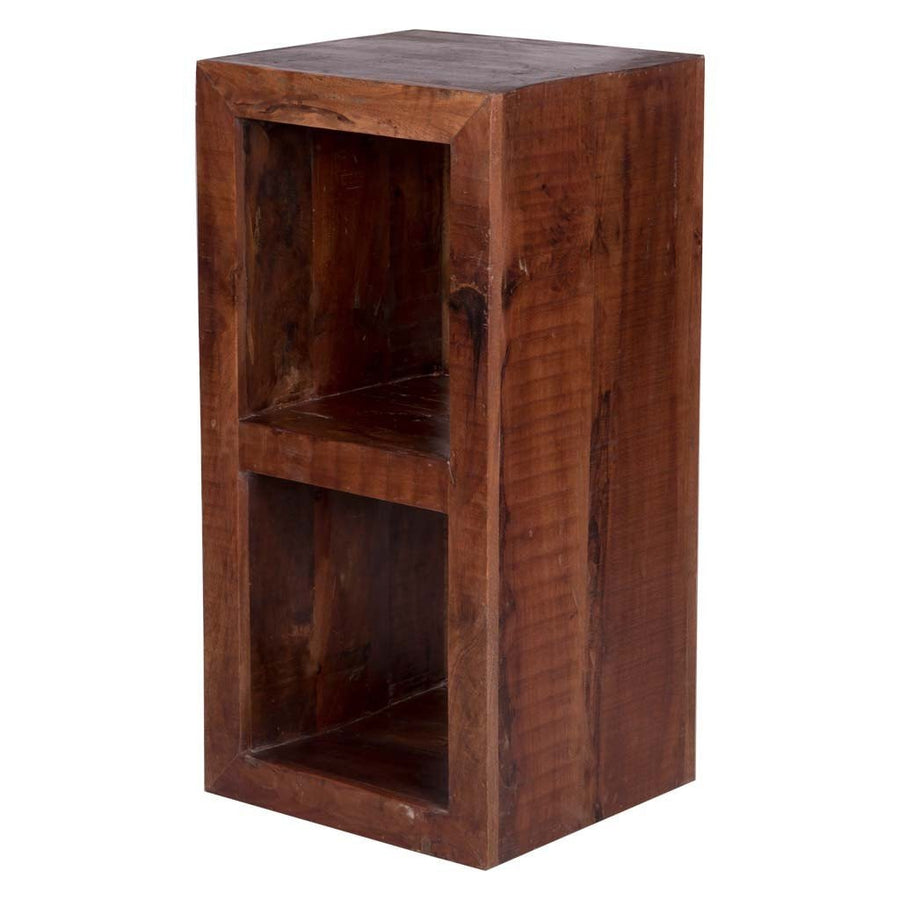 Maadze Double Cube End Table In Natural Finish