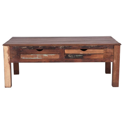 Rustic Coffee Table with Drawers | Maadze