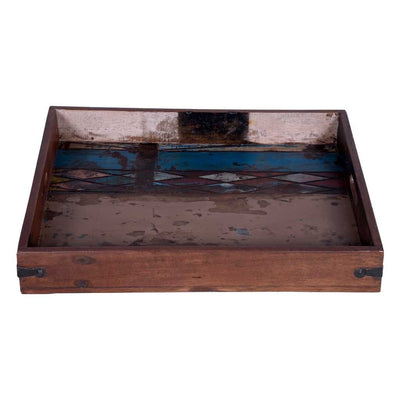Rectangular Rustic Serving Tray with Handles - Maadze