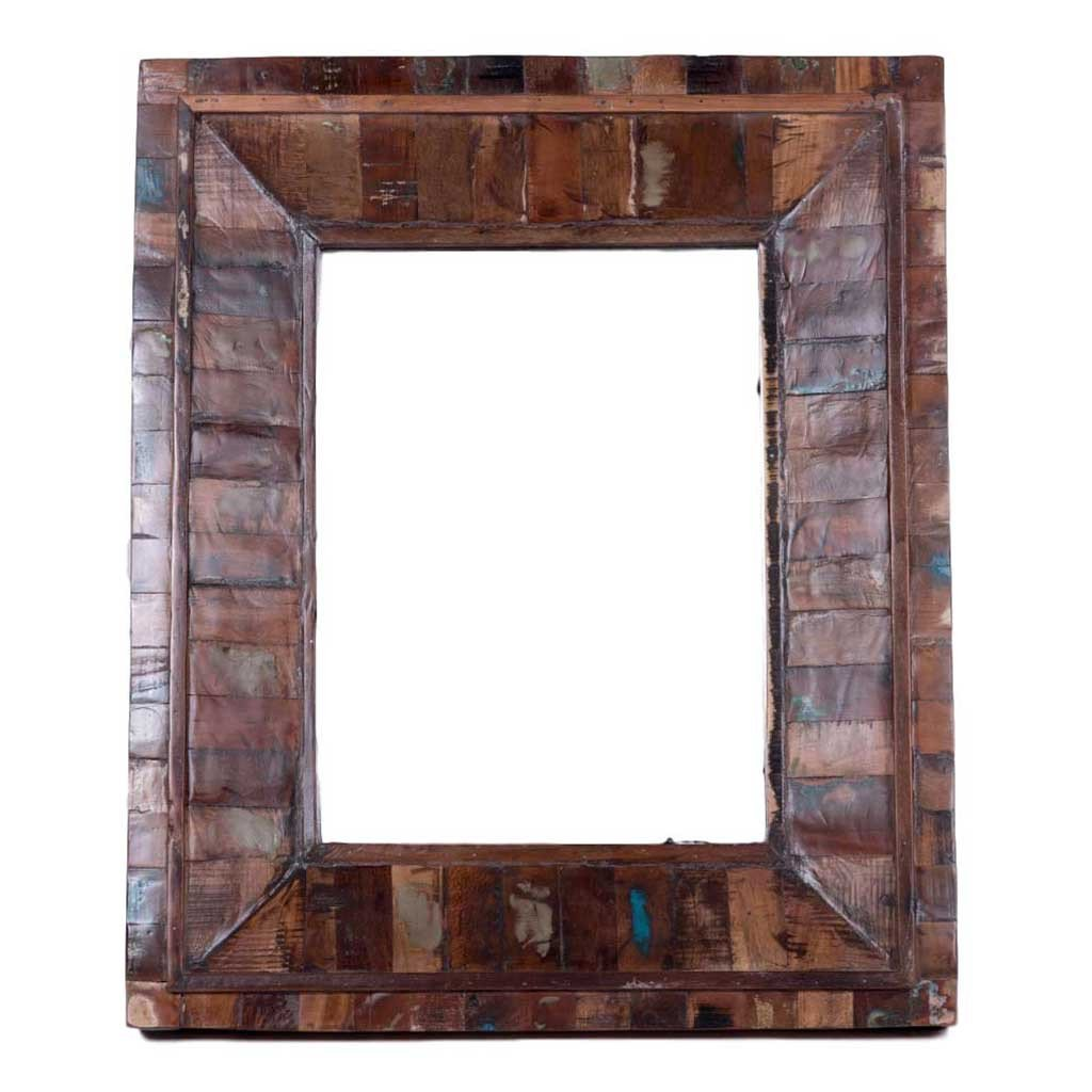 Maadze Distressed Wood Wall Mirror - Maadze