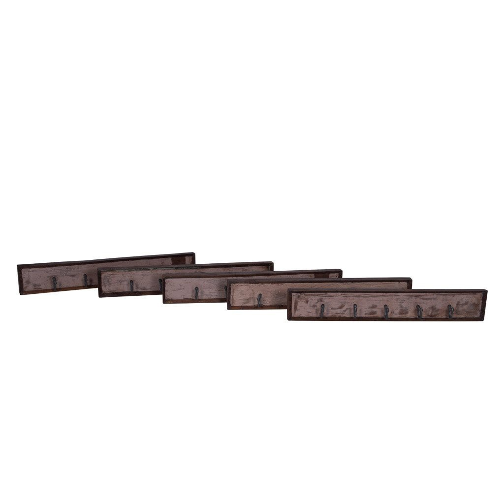 Maadze Reclaimed Wood 5-Hook Wall Rack - Maadze