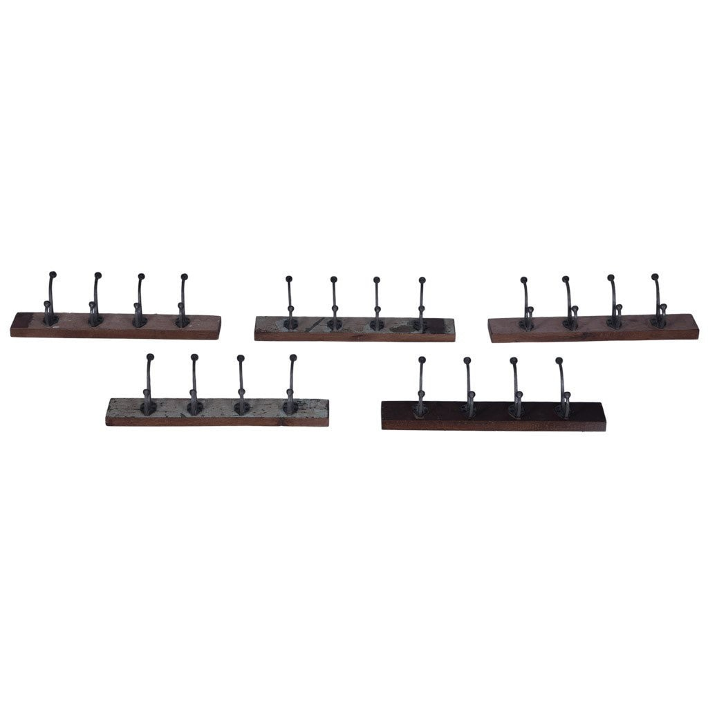 Maadze Set of Reclaimed Wood Wall Hooks - Maadze