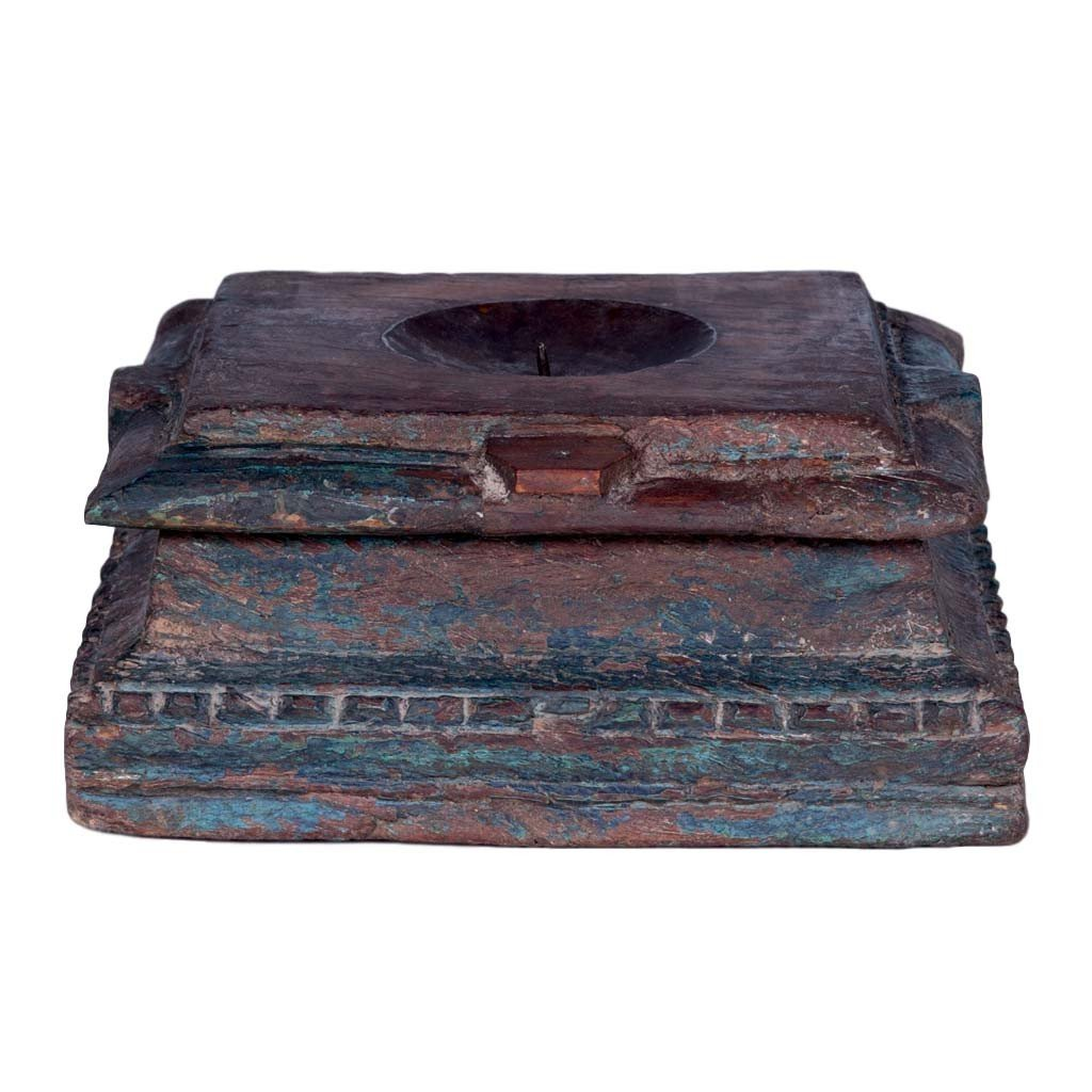 Rustic, Rectangular, Decorative Candle Holder - Maadze