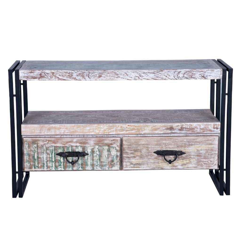 Whitewashed Rustic TV Stand | Maadze