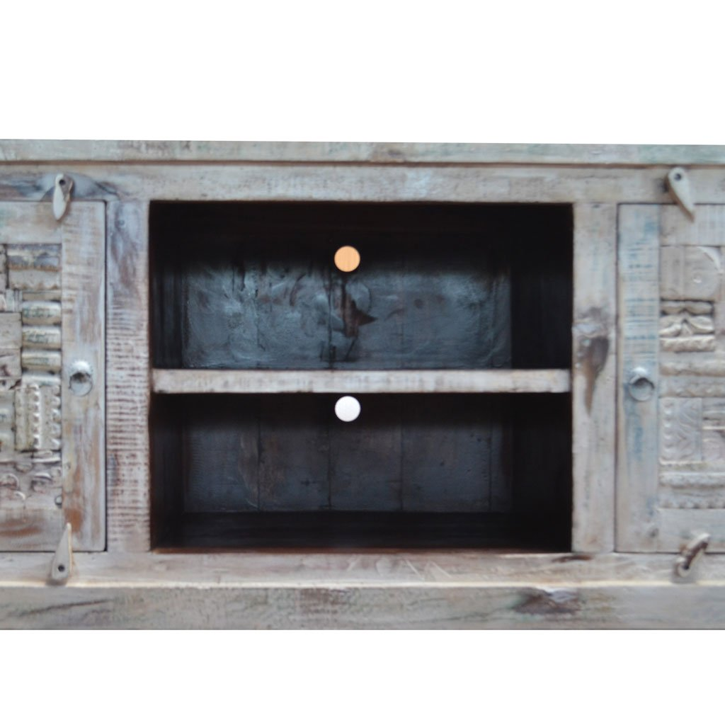 Reclaimed Wood Media Console | Maadze - Maadze
