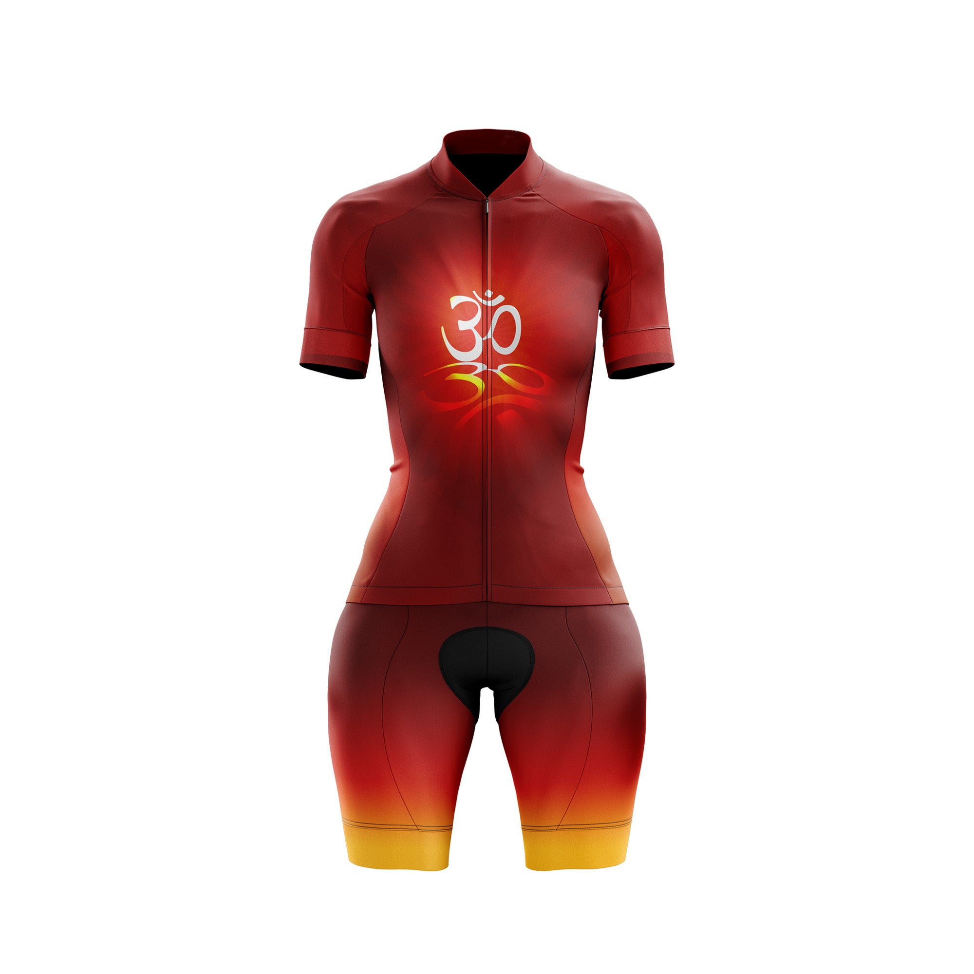 Red Om Womens Cycling Kit