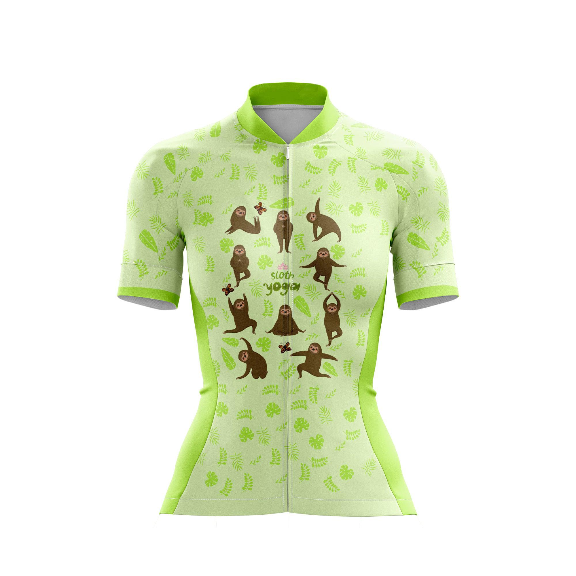 Sloth Yoga Female Cycling Jersey