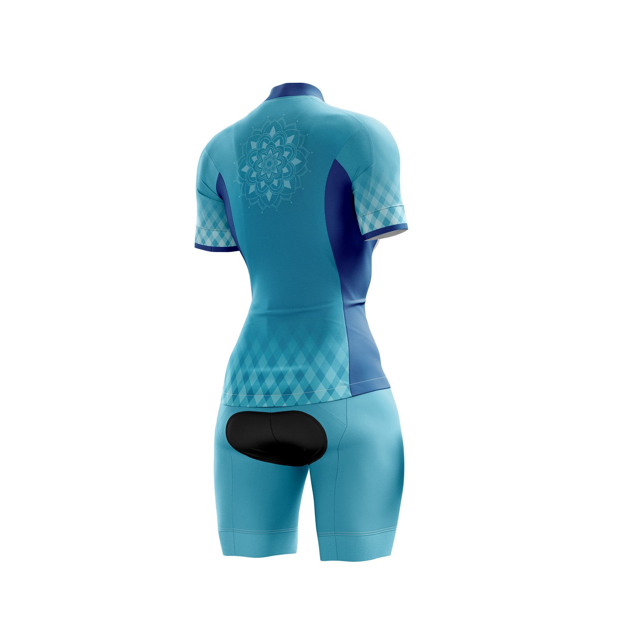 Blue Mandala Womens Cycling Kit