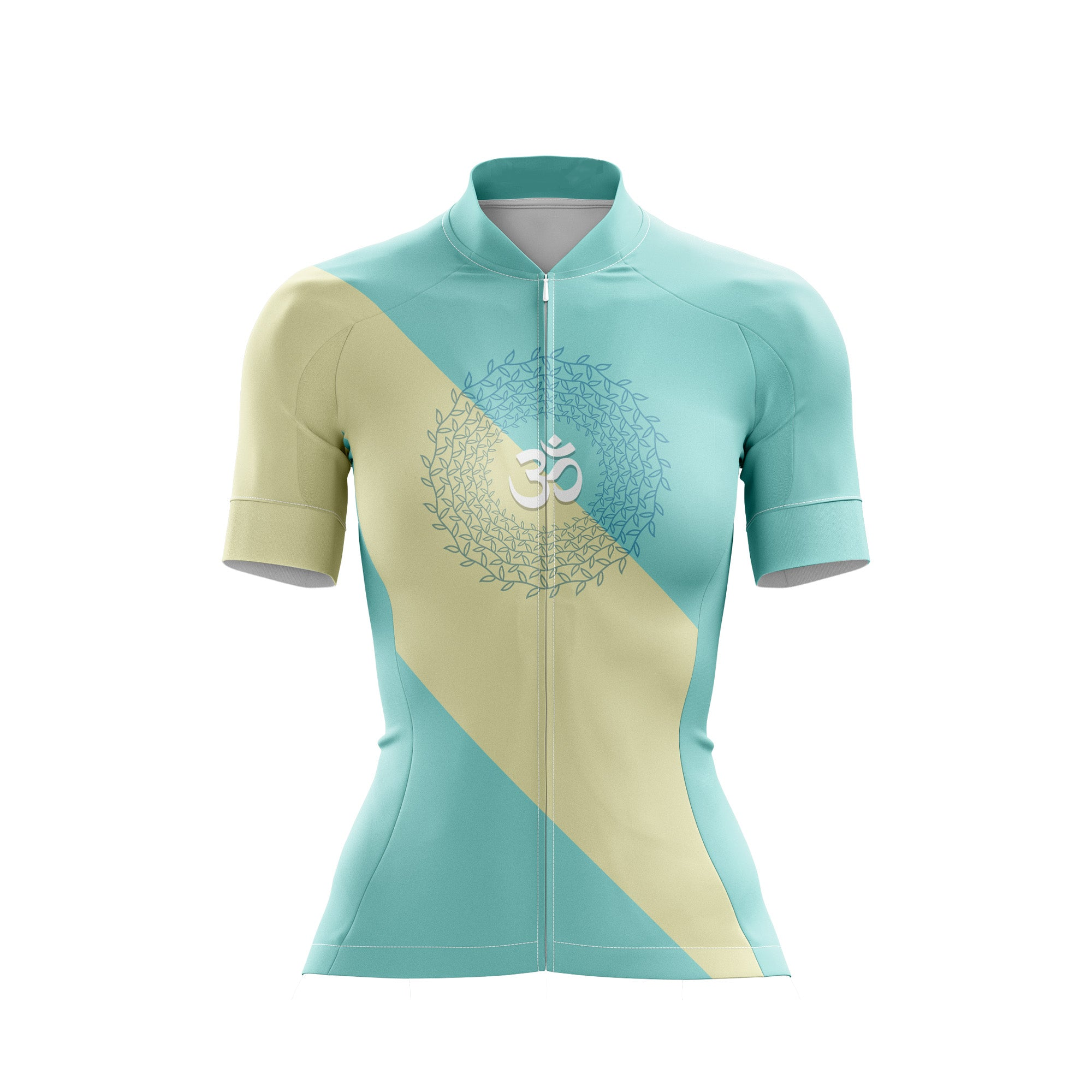 Om meditation female cycling jersey