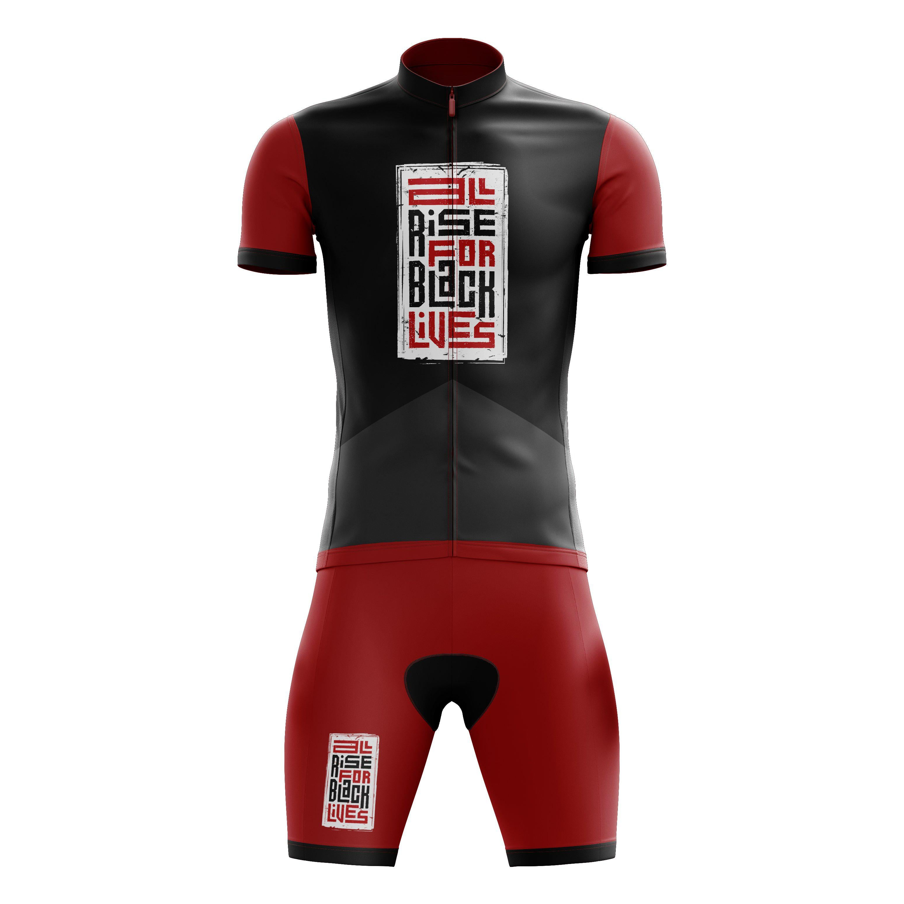 all rise for black lives cycling kit