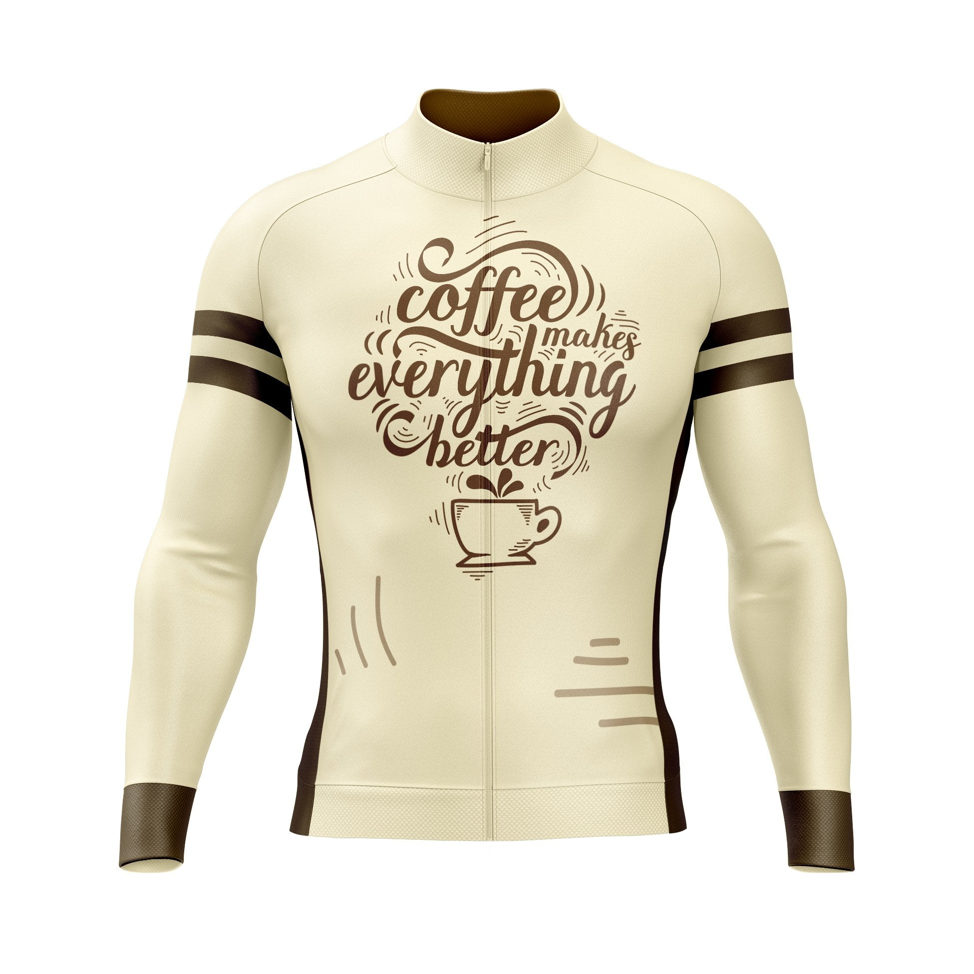 Coffee Makes Everything Better Long Sleeve Cycling Jersey