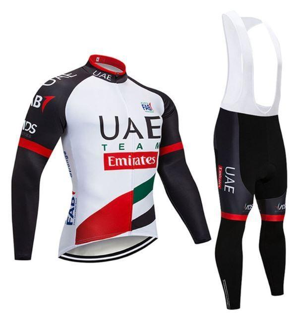 Team UAE Emirates Long Sleeve Winter Cycling Jersey & Pants