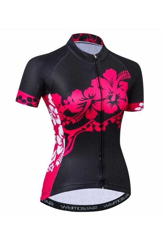 hibiscus cycling jersey woman