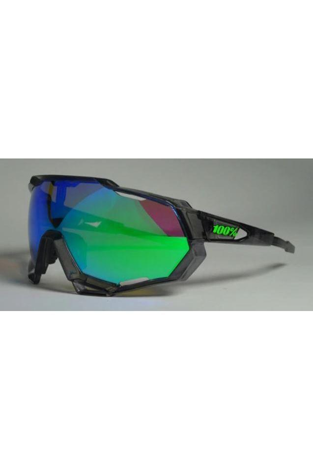 Turquoise Polarized Cycling Glasses With 3 Lenses