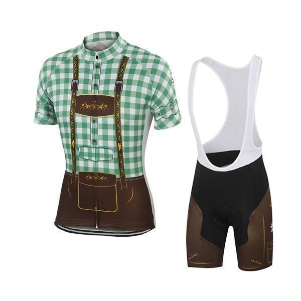 green lederhosen cycling kit