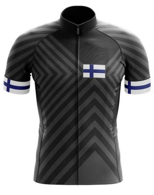 Finland Black Cycling Jersey