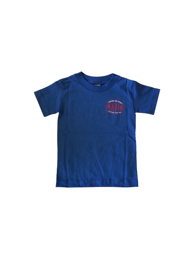 MĀVIN - Defend Youth Tee {Blue}