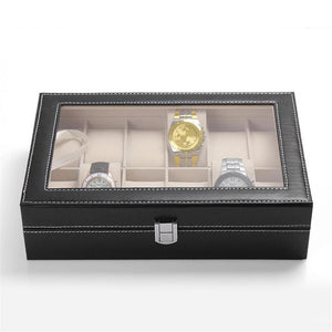 12 Grid Leather Watch Display/Holder Box