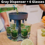 6 Shot Glass Dispenser and Holder