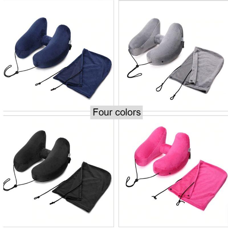 H shaped Inflatable travel pillow