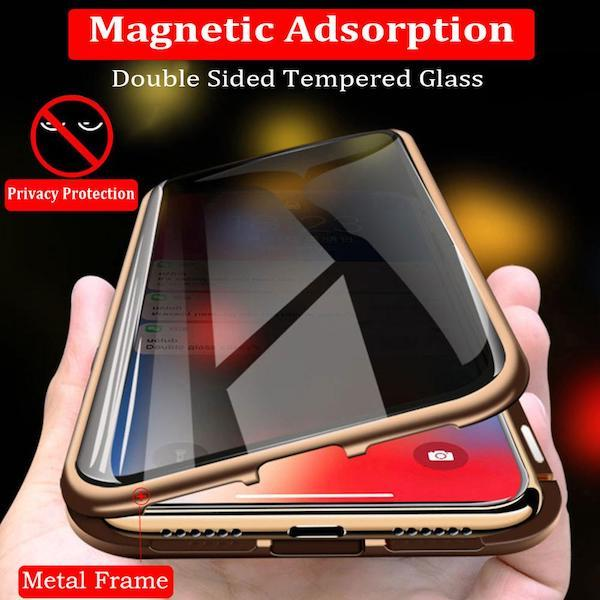 Anti-Peep Magnetic iPhone Front & Back Case