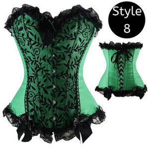 Sexy Lace Up Boned Overbust Corset