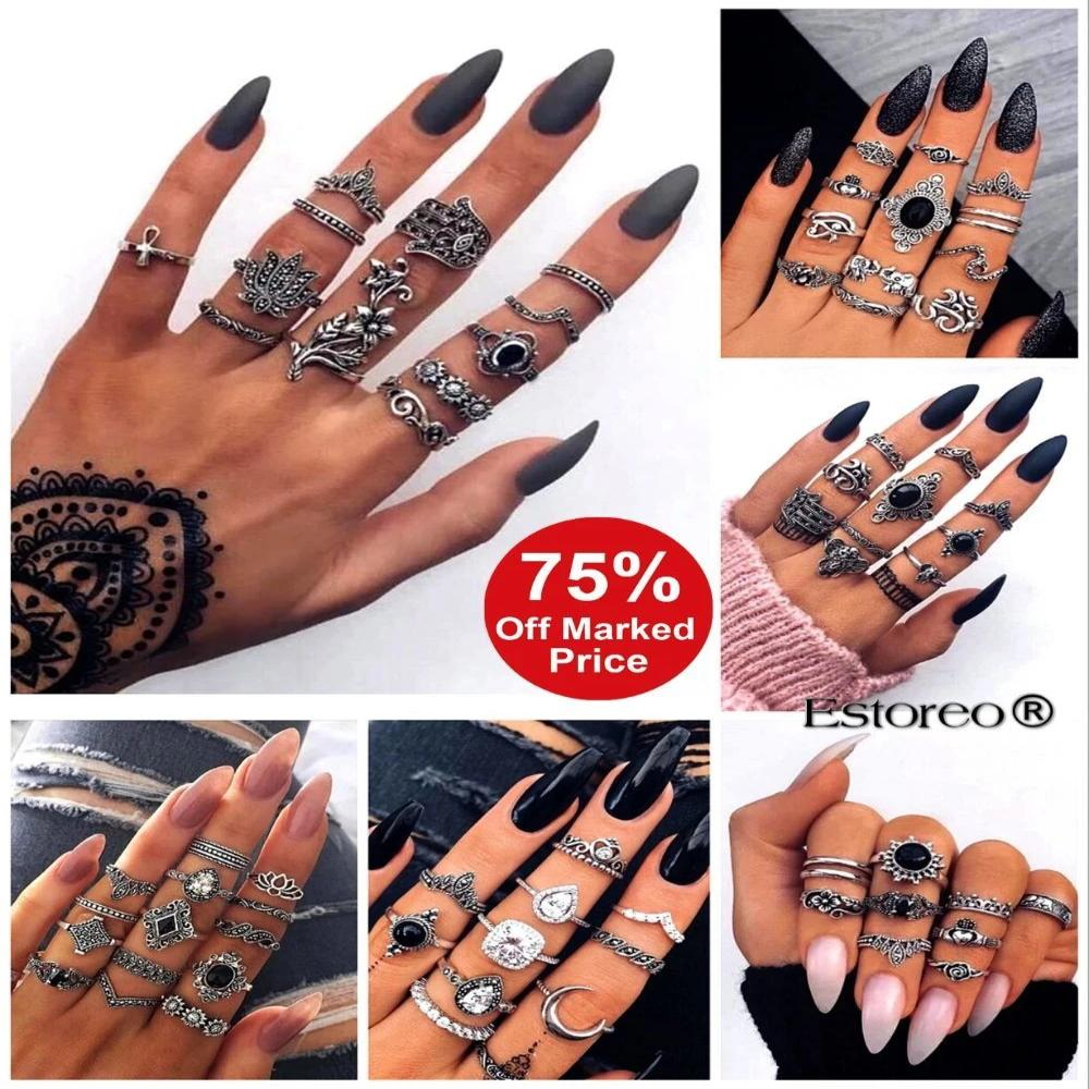 10pcs/set Bohemian Ring
