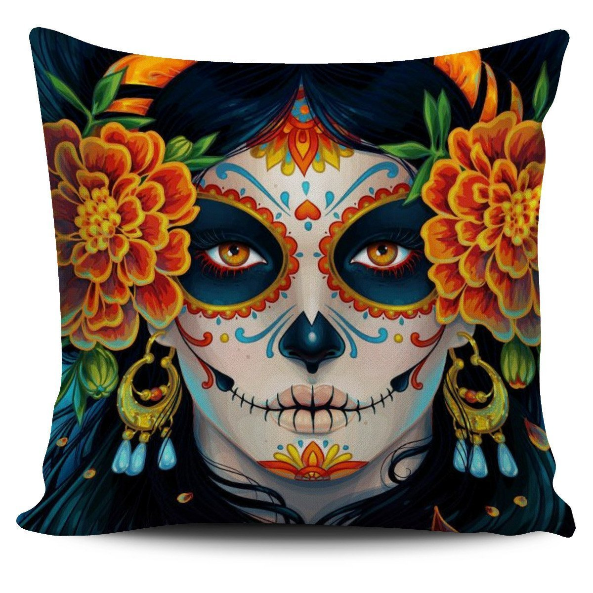 Calavera Girl Pillow Cover