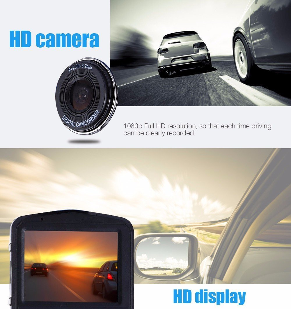 Dash Cam Mini Car DVR Camera GT300 Camcorder 1080P Full HD Video Registrator Parking Recorder G-sensor Dash Cam