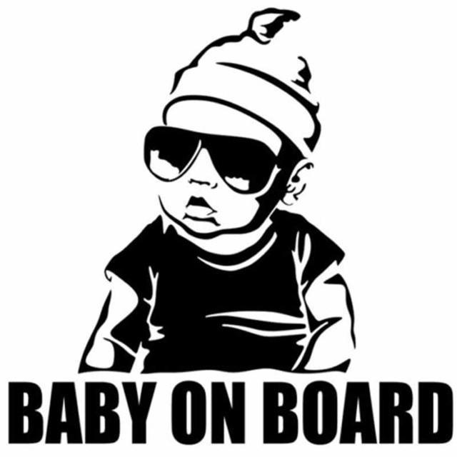 decal BABY ON BOARD Tail Warning Sign Decal
