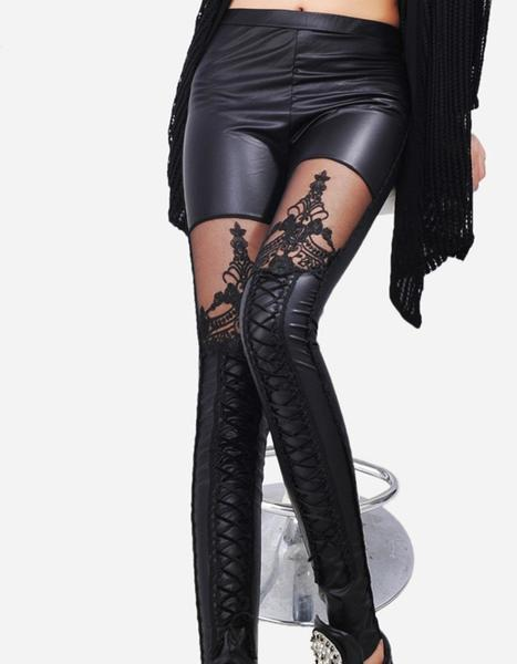 Gothic Leather Leggings Sexy