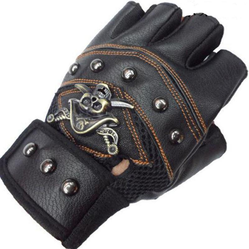LEATHER MOTORCYCLE CROSS GLOVES