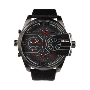 Luxury Strap Big Dial SportsWatch
