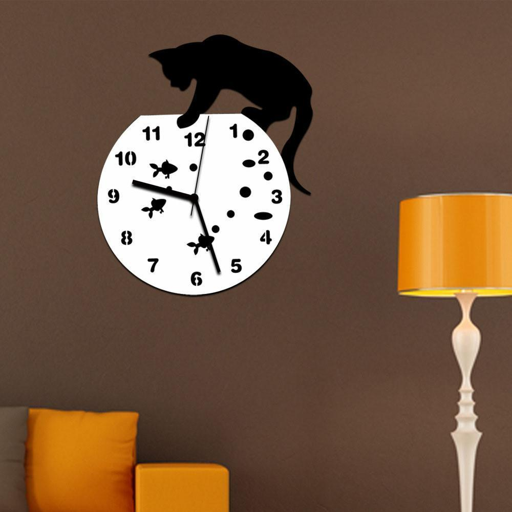 Modern Cat Wall Clock