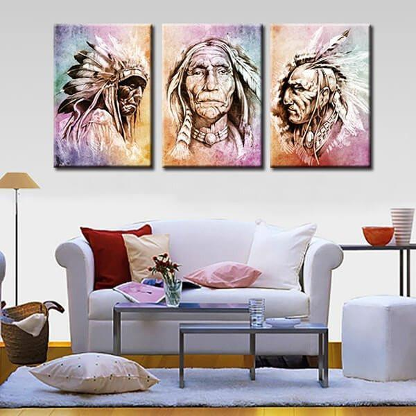 Native chiefs canvas