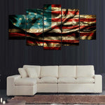 Retro American flag Canvas