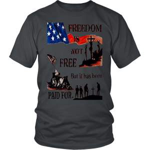 T-shirt Freedom is paid Not Free Tee