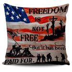 US flag pillow cover