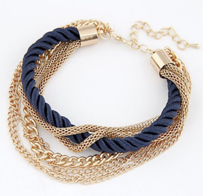 women's bracelet Multilayer Gold Plated Pulsars Women Bracelet