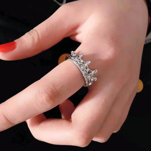 women's jewelry set Gorgeous Queen Crown Ring - silver