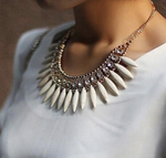 women's necklace Women crystal chunky necklace