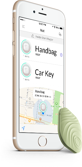 NutTag Bluetooth Tracker Green + Phone