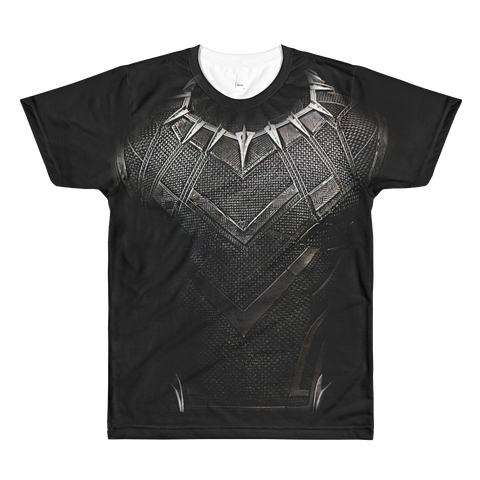 Mens Black Panther Suit Tee