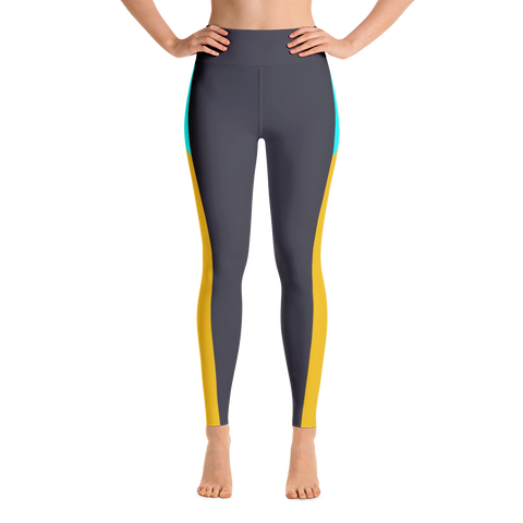Carbon Colorblock Yoga Leggings
